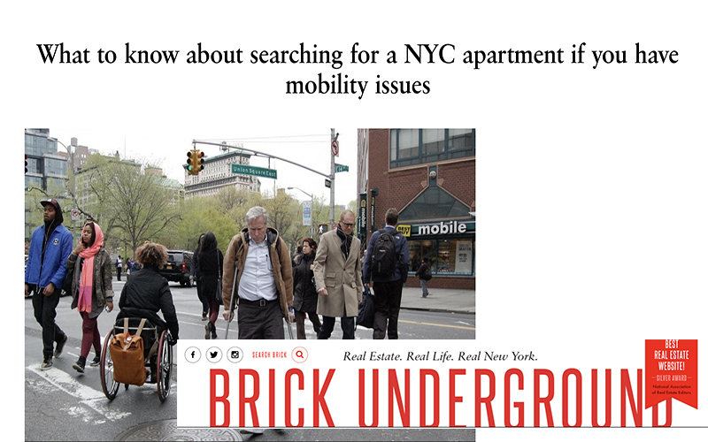Brick Underground Story On Accessible Apartments Features NYLPI Organizer