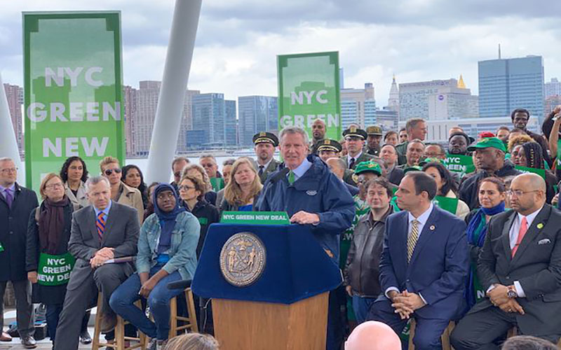 NYLPI Attends Mayor's Green New Deal Press Conference