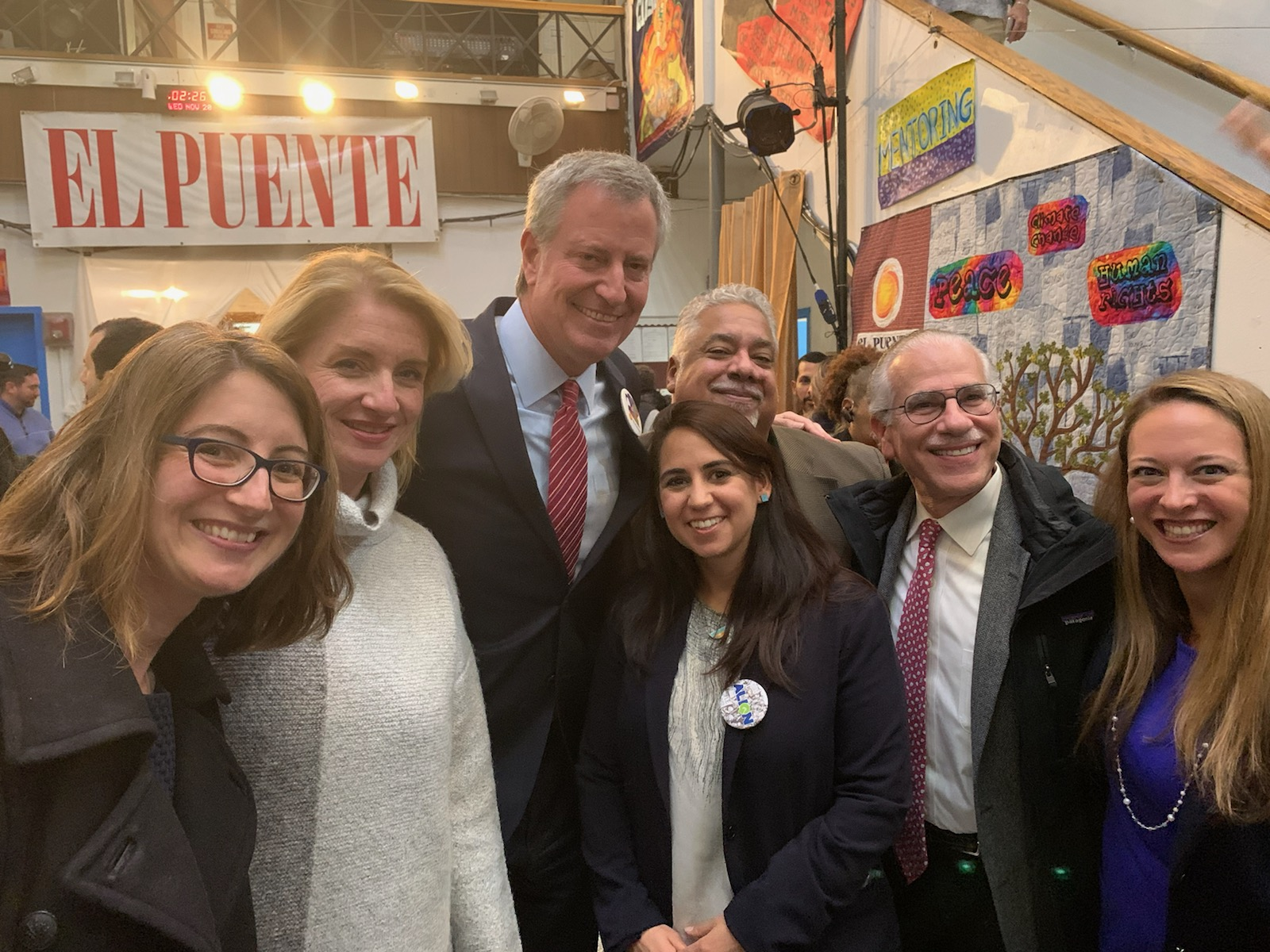 Photo of Mayor de Blasio, NYLPI, and other TDT leaders