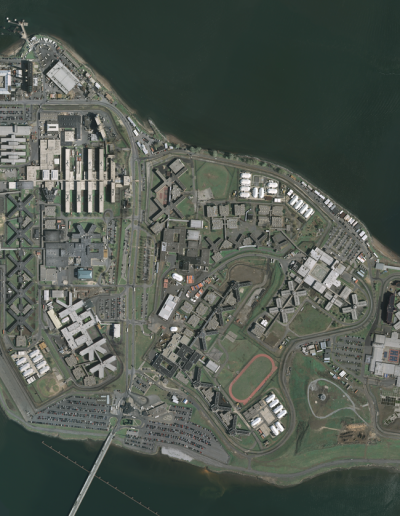 Satellite photo of Rikers Island