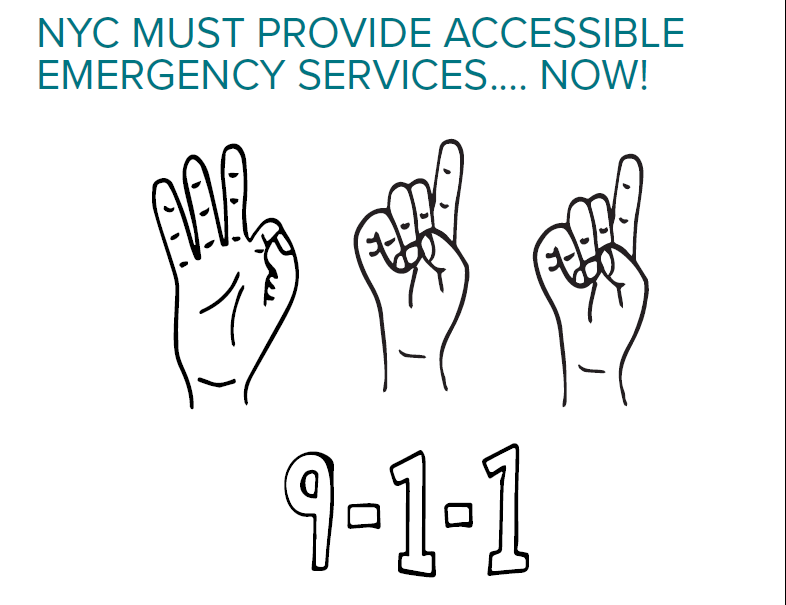 Report: NYC Must Provide Accessible Emergency Services Now!