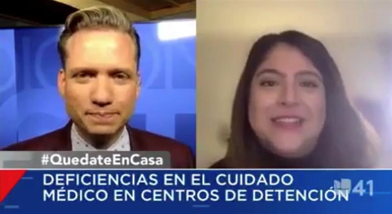 NYLPI Discusses the Growing Public Health Crisis in Immigration Detention with Univision 41